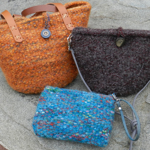 felted bucket bags pattern