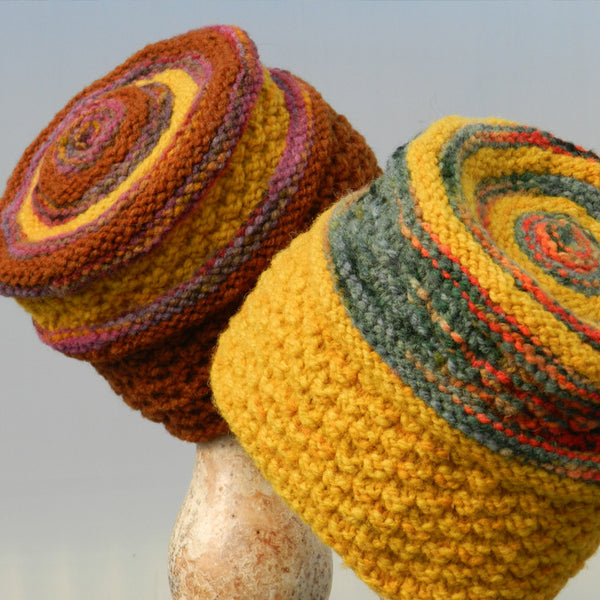 round-up hat pattern in Montadale woolen