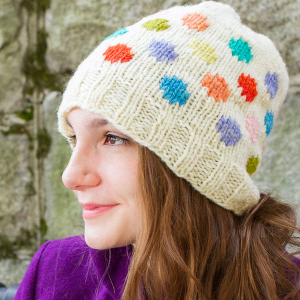 solitude dots hat pattern