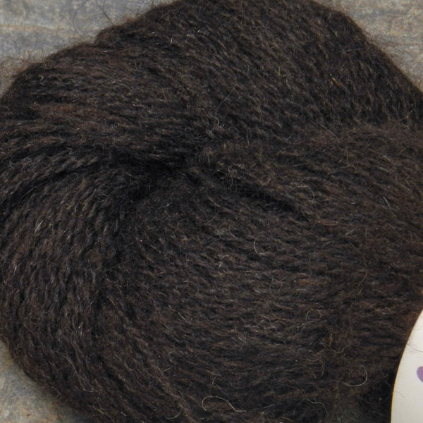 Alpaca Merino Yarn Skeins black-gray with pinks & purples