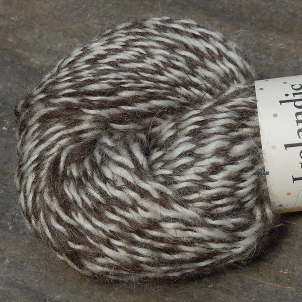undyed brown white marl