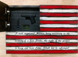 SMALL AMERICAN FLAG WITH SECOND AMENDMENT - ProtectYOURshelves