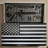 Glossy Black/Gray Concealment Flag