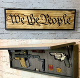 We The People Sign With Hidden Compartment - ProtectYOURshelves