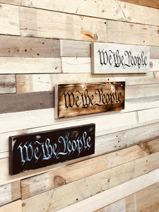 We the people wall decor - ProtectYOURshelves