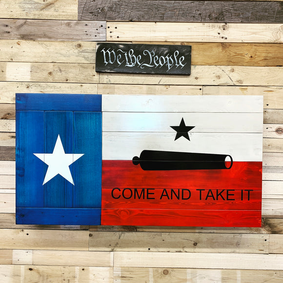 Rustic Texas Come And Take It Flag - ProtectYOURshelves