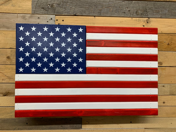 Red White & Blue American Flag With Secret Compartment