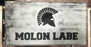 MOLON LABE distressed concealment art - ProtectYOURshelves