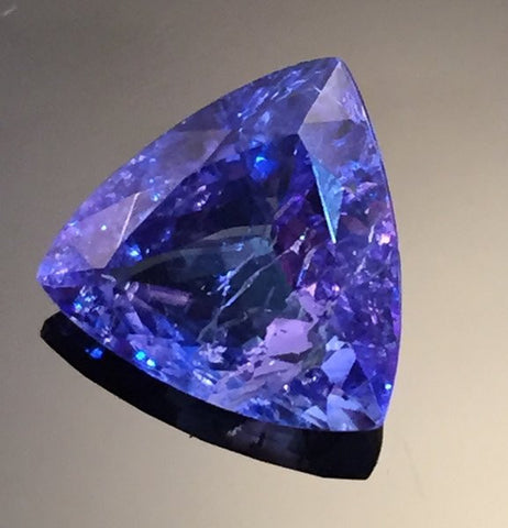 4.35 carat Trillion Cut Tanzanite Gemstone - Colonial Gems