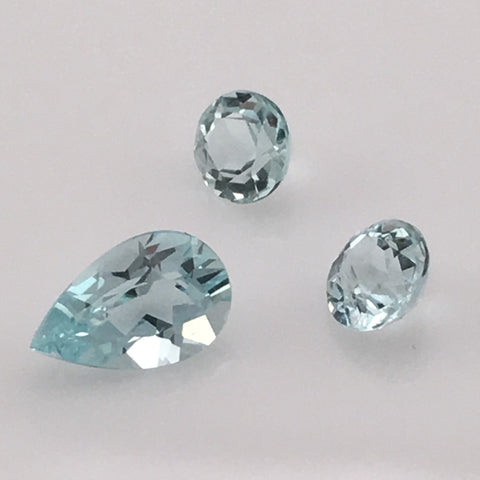 1.3 carat 3-piece Colorado Aquamarine Gemstone Set - Colonial Gems
