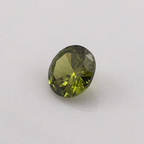 4.5 carat Brilliant Round Green Fire Zircon - Colonial Gems