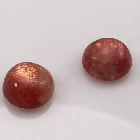 11 carat Set of Siberian Sunstone Cabochons - Colonial Gems