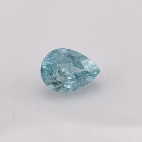 1.5 carat Mount Antero Pear Aquamarine Gemstone - Colonial Gems