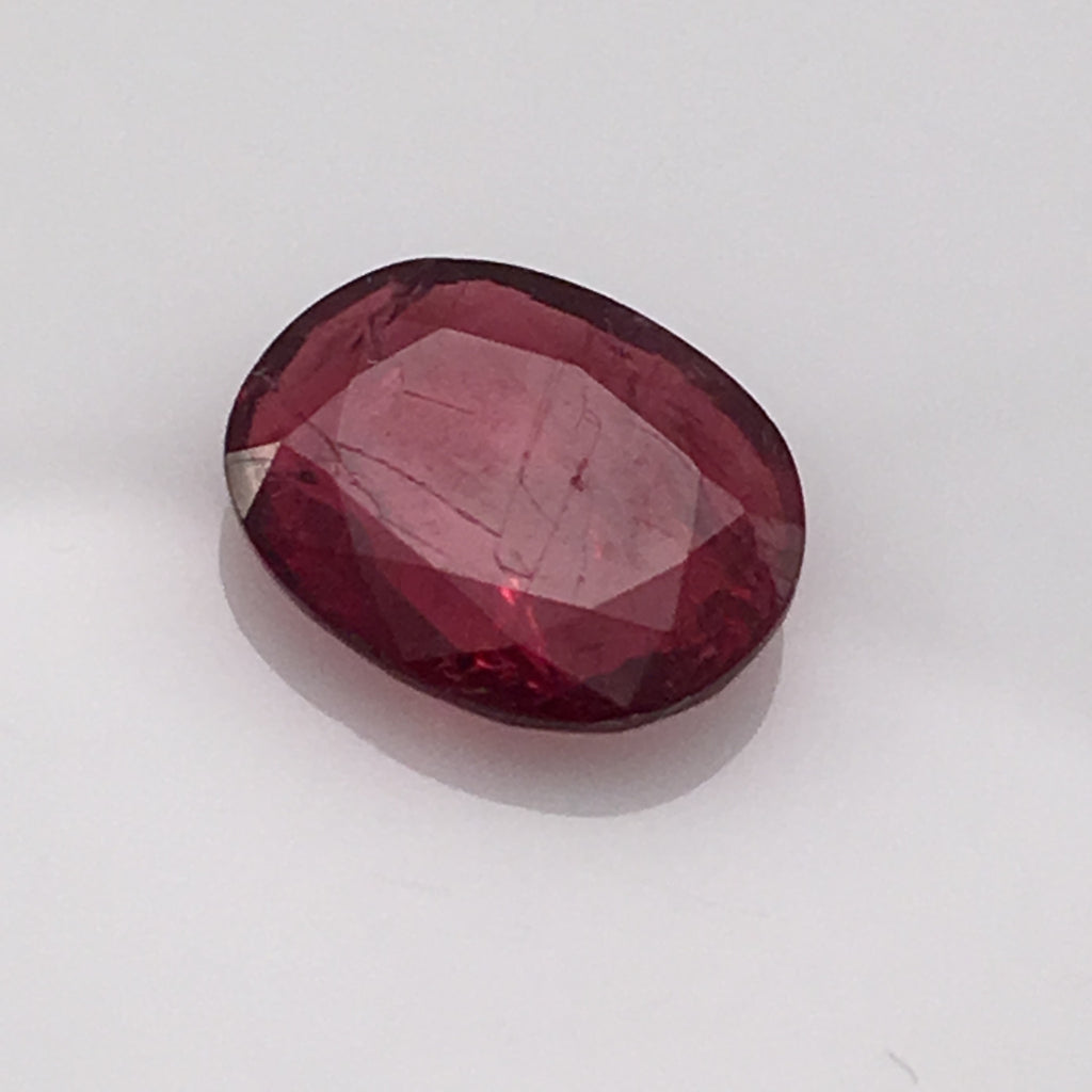 2 carat Red Oval Spinel Gemstone - Colonial Gems
