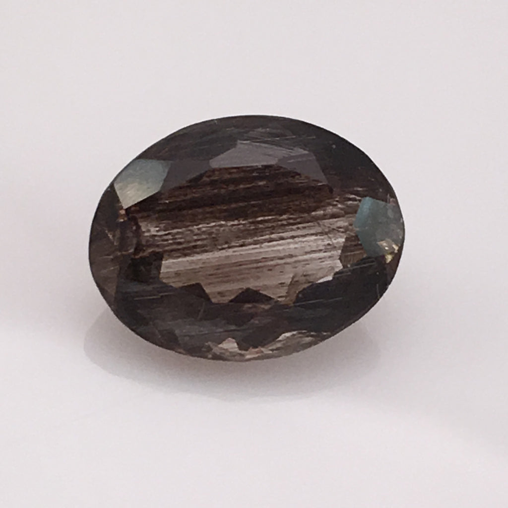 4.8 carat Smokey Grey Rutile Gemstone - Colonial Gems