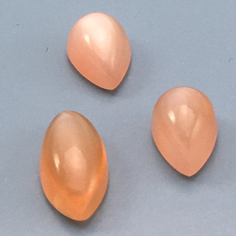 8.5 carat Set of Rare Orange Moonstone Gems - Colonial Gems