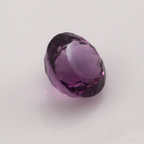 7.4 carat deep cut round Amethyst Gemstone - Colonial Gems