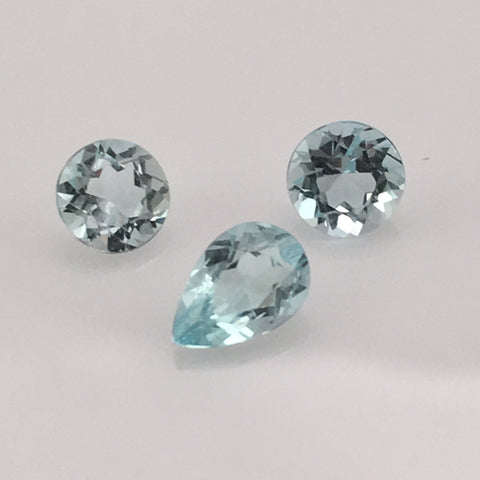 1.5 carat 3-piece Colorado Aquamarine Gemstone Set - Colonial Gems