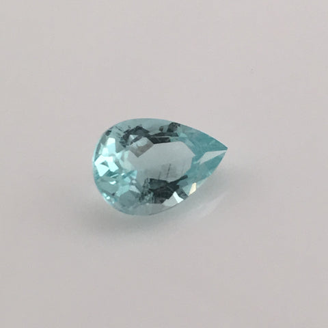 2.4 carat Mount Antero Teardrop Aquamarine Gemstone - Colonial Gems