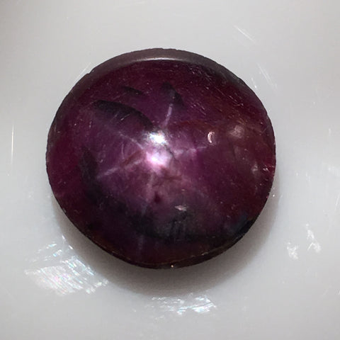 6.9 carat Indian Star Ruby Cabochon - Colonial Gems
