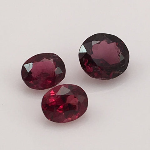 3 carat set of Cambodian Red Spinel Gemstones - Colonial Gems