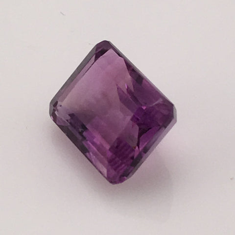 7.3 carat Emerald Cut Amethyst Gemstone - Colonial Gems