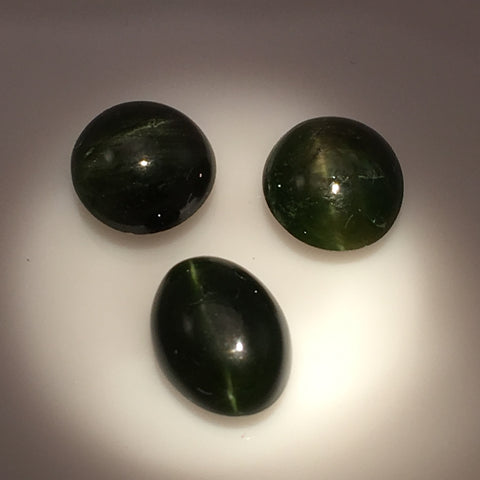 7 carat set of African Kornerupine Cats Eye Gems - Colonial Gems
