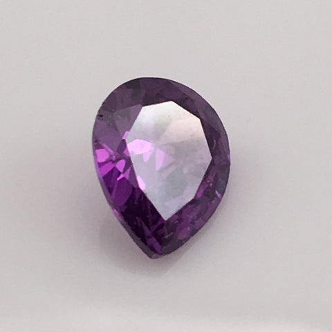 5.3 carat pear cut Purple Zircon Gemstone - Colonial Gems