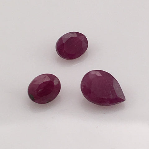 2.1  carat Ruby Gemstone Set - Colonial Gems