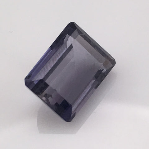 5.5 carat Emerald Cut Iolite Gemstone - Colonial Gems