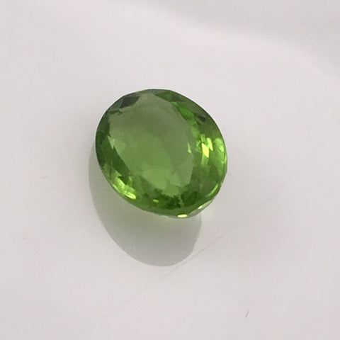 3.5 carat Oval Peridot Gemstone - Colonial Gems