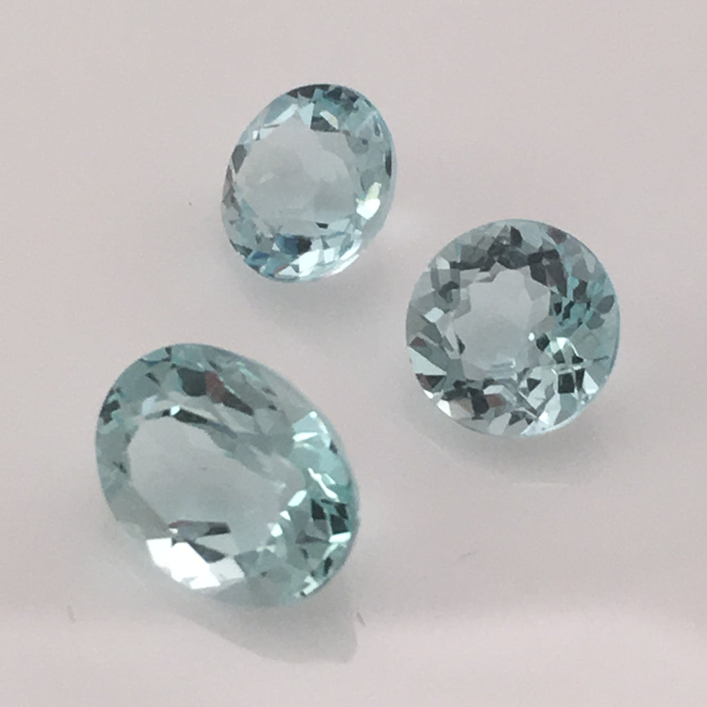 4 carat 3-peice Afghan Aquamarine Gemstone set - Colonial Gems