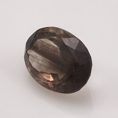 8.1 carat Smokey Grey Rutile Gemstone - Colonial Gems