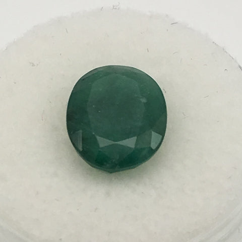 4 carat Oval Afghan Emerald - Colonial Gems