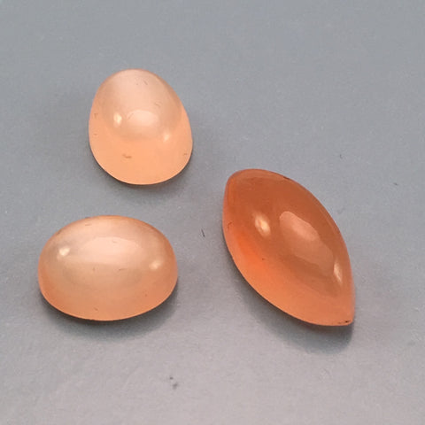 11 carat Set Orange Moonstones - Colonial Gems