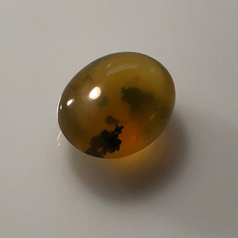 12.7 Carat Yellow Dendrite Opal Cabochon - Colonial Gems