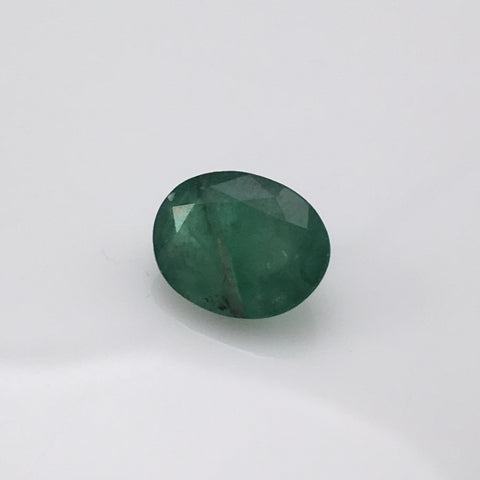 3.7 carat Oval Afhgan Emerald Gemstone - Colonial Gems