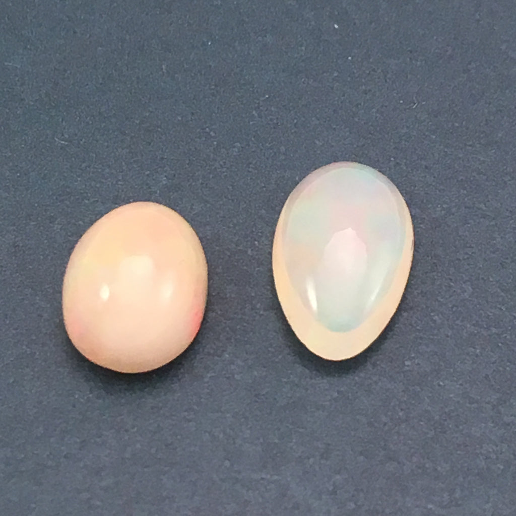 2.4 carat White Opal Cabochon Set - Colonial Gems