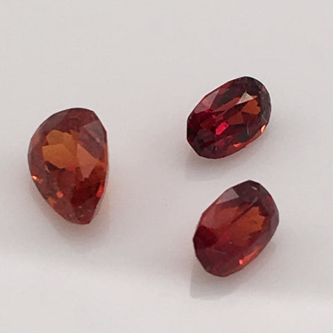 2.8 carat set of Bavarian Spessarite Gemstones - Colonial Gems