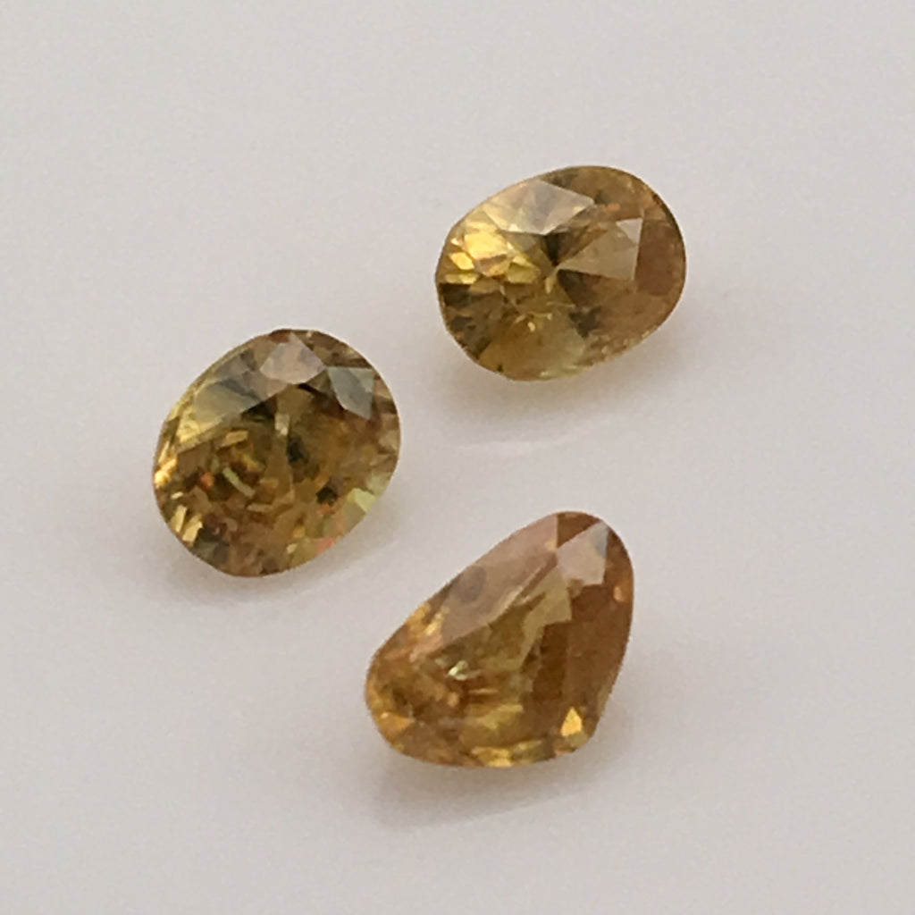 2 carat set of Sphene Gemstones - Colonial Gems