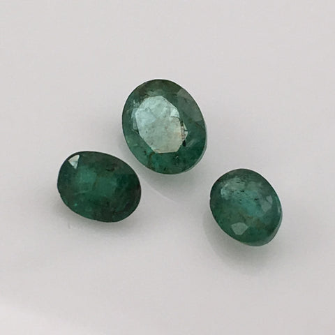 2.5 carat Indian Emerald Gemstone Set - Colonial Gems