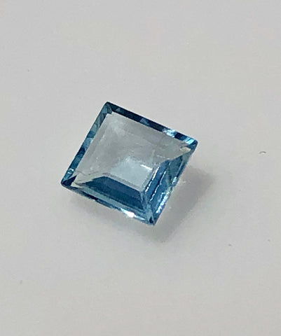 1/2 carat square cut Mt. Antero Aquamarine Gemstone