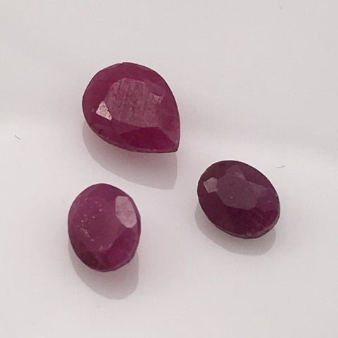 2 carat Set Vietnamese Ruby Gemstones - Colonial Gems