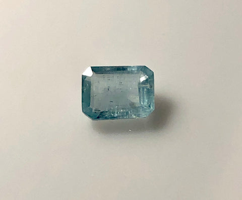 1.6 carat emerald cut Mt. Antero Aquamarine Gemstone