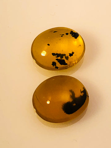 12.9 Carat Yellow Dendrite Opal Cabochon Set - Colonial Gems