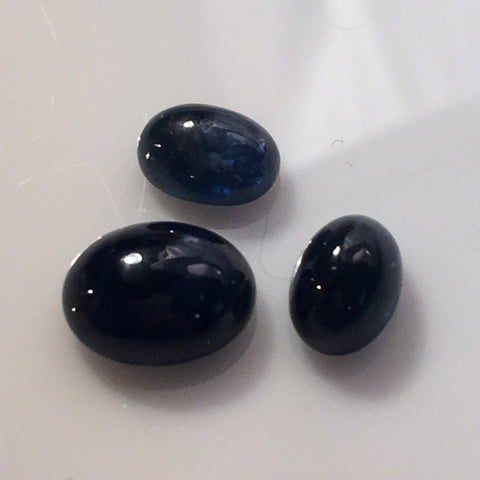 5.8 carat set of Thai Blue Sapphire Cabochons - Colonial Gems