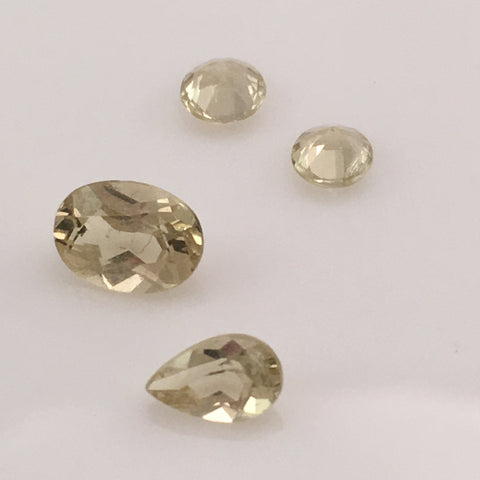2.5 carat 4-piece Golden Beryl Gemstone Set - Colonial Gems