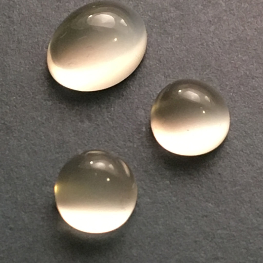 6 carat set of White Cats Eye Moonstone Gems - Colonial Gems