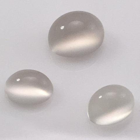 6.8 carat set of White Moonstone Gems - Colonial Gems