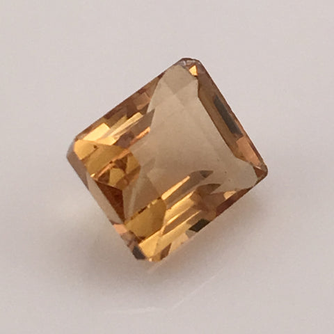 5.7 carat Emerald Cut South American Citrine Gemstone - Colonial Gems